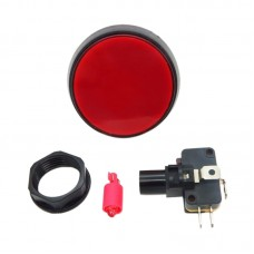 Large Keys Electronic with Light Reset Button Switch Small Bobby 60mm for Game Machine 2-Pack