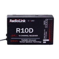 RadioLink R10D 2.4G 10CH DSSS Receiver for RadioLink AT9 AT10 Transmitter RC Helicopter Multirotor
