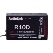 RadioLink R10D 2.4G 10CH DSSS Receiver for RadioLink AT9 AT10 Transmitter RC Helicopter Multirotor
