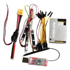 FPV APM2.8 Flight Control with Aluminum Case Integrated OSD 3DR LED XT50 915MH for Multicopter