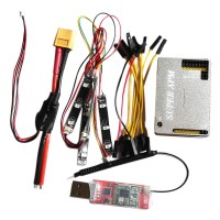 FPV APM2.8 Flight Control with Aluminum Case Integrated OSD 3DR LED XT50 433MH for Multicopter