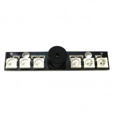Matek WS2812B LED and 5V Active Buzzer Integrated Board for Naze32 Skyline32 Flight Control