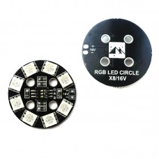 Matek RGB LED Round Circle Board 7-Colors X8 16V for FPV RC Multicopter