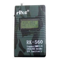 RK560 50MHz-2.4GHz Portable Handheld Frequency Counter DCS CTCSS Radio Testing Frequency Meter