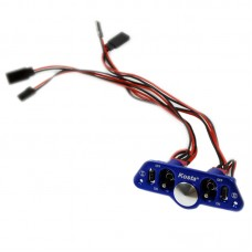 Alloy Double Switch Connector Dual Remote Control Switch for Multicopter Airplane-Blue