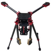 L450 Aluminum Alloy Carbon Fiber Folding Umbraller Quadcopter Frame for Flight Control Multicopter