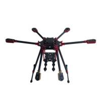 L600 3K Aluminum Carbon Fiber Folding Umbraller Hexacopter Frame for Flight Control Multicopter