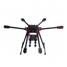 L700 3K Aluminum Carbon Fiber Folding Umbraller Hexacopter Frame for Flight Control Multicopter