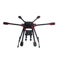 L800 3K Aluminum Carbon Fiber Folding Umbraller Hexacopter Frame for Flight Control Multicopter