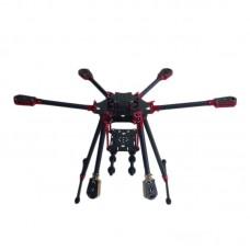 L800 3K Aluminum Carbon Fiber Folding Umbraller Hexacopter Frame for Flight Control Multicopter