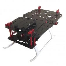 QAV250 Mini Carbon Folding Quadcopter Frame for FPV Aerial UAV with Plastic Cement Tripod