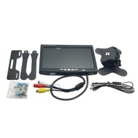 7 inch FPV LCD Color Monitor Video Screen with Carbon Fiber Holder for Rc Multicopter QAV250