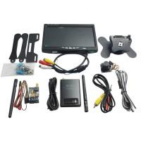 FPV 5.8Ghz 200mw Transmitter & RC805 Receiver & 800TVL Camera & HD Monitor Set with Holder for DJI Phantom QVA250