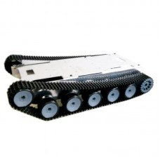 ROT-6 Unassembled Tank Chassis Tracked Vehicle Chassis w/Stainless Steel Wheel for Car Robot Tanks DIY