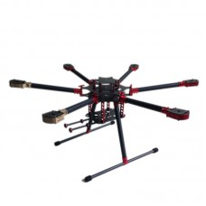 L800 Folding Umbrella 3k Carbon Hexacopter Frame for Multicopter Aerial UAV FPVS