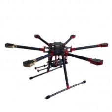 L900 Folding Umbrella 3k Carbon Hexacopter Frame for Multicopter Aerial UAV FPV
