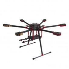 L800 800mm Folding Umbrella 3k Carbon Hexacopter Frame for Multicopter Aerial UAV FPV