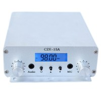 CZE-15A DC 12V 2W/15W Stereo PLL FM Transmitter Broadcast Car Radio Station w/Power Adapter