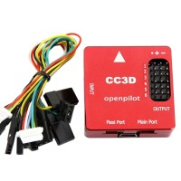 CC3D Openpilot Open Source Flight Controller CNC Metal Protective Case Processor for RC Multicopter