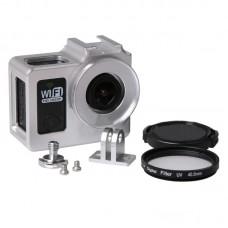 SJCAM Camera Case Frame Housing Protector Ring Cover for SJ4000 SJ6000 SJ7000 HD Sport Camera-Silver