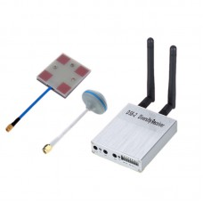 5.8G Wireless Audio Video A/V Receiver Rx D58-2 with 14dBi Flat Antenna + Mushroom Antenna for FPV