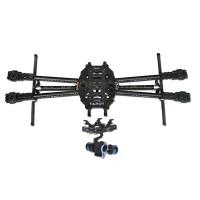 Tarot Iron Man 650 Foldable 3K Carbon Fiber Quadcopter Frame+Gopro 2-Axis Brushless Gimbal