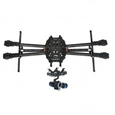 Tarot Iron Man 650 Foldable 3K Carbon Fiber Quadcopter Frame+Gopro 2-Axis Brushless Gimbal