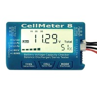 CellMeter 8 AOK 8S Battery Voltage Capacity Checker Monitor Servo Detector Tester Balance Discharger