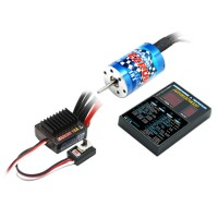 HobbyWing EZRUN 25A ESC+12T Brushless Motor+LED Program Card Combo A4 for 1/16 1/18 RC Car