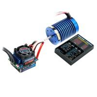 Hobbywing EZrun 9T 4300kV Brushless Motor+60A ESC+LED Program Card COMBO B6 for 1/10 1/12 RC Car