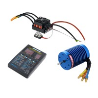 Hobbywing EZRUN QuicRun-WP-10BL60 Waterproof ESC+13T 3000KV Brushless Motor+LED Program Card Combo-B7 for 1/10 RC Car