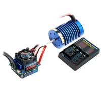 Hobbywing EZRUN Brushless 35A ESC+9T 4300KV Motor+LED Program Card Combo B2 for 1/12 1/10 RC Car