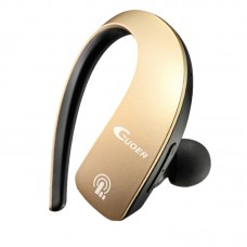 Mini Bluetooth Headset Sports Hanging Earphone Bluetooth 4.1 for iOS Windows Android Car Phone-Gold