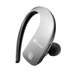 Mini Bluetooth Headset Sports Hanging Earphone Bluetooth 4.1 for iOS Windows Android Car Phone-Silver
