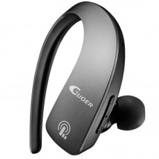 Mini Bluetooth Headset Sports Hanging Earphone Bluetooth 4.1 for iOS Windows Android Car Phone-Black