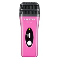 Takstar PH-100 Mobile Phone Karaoke Microphone IOS Android Systems Mobile Device Condenser Mic-Red