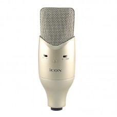 ICON M2 Large Diaphragm Studio Condenser Microphone Professional Recording Mic for Network Karaoke