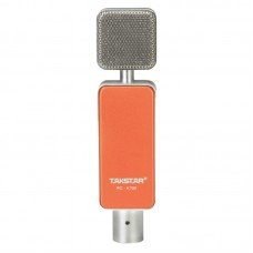 Takstar PC-K700 Professional Condenser Microphone with Superior Sound for Network Karaoke Recording-Orange