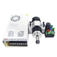 LD52GF-400W Air Cooled Spindle Motor Kit DC 24V-52V 0.4KW 12000rpm w/Power Supply for CNC Carving Milling