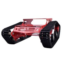 Tank Car Crawler Chassis Tracked Vehicle Parts Tank Car Chassis for Remote Control Arduino DIY-Red