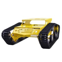 Tank Car Crawler Chassis Ttracked Vehicle Parts Tank Car Chassis for Remote Control Arduino DIY-Yellow