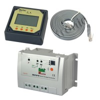 10A Tracer-1210RN MPPT Solar Controller Charger DC12V 24V Solar Panel Power Regulator w/MT-5 LCD Display Remote Meter