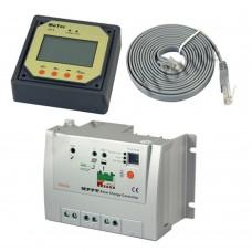 10A Tracer-1210RN MPPT Solar Controller Charger DC12V 24V Solar Panel Power Regulator w/MT-5 LCD Display Remote Meter
