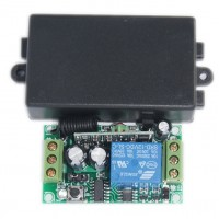 DC12V Single Channel Wireless Intelligent Learning Remote Control Switch 315MHZ Receiver with Shell