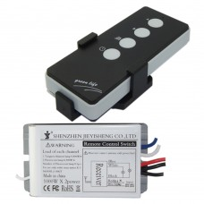 AC220V 2 Channel On-Off Digital Wireless Remote Control Switch Receiver for Light Lamp Garage