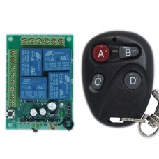 DC12V 4CH 315MHZ Wireless Intelligent Remote Control Switch Transmitter Receiver for DIY
