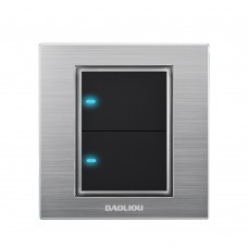 Baoliou A6 Series Wall LED Touch Light Switch Panel Tack Single Control On-Off Socket