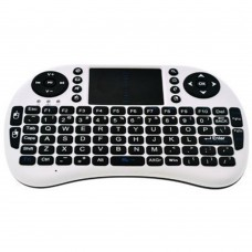 Mini I8 Portable 2.4G Wireless Keyboard with Touchpad for Android TV Set Top Box PC HTPC Computer-White