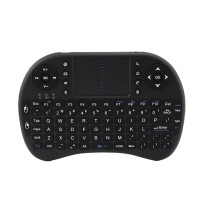 Mini I8 Portable 2.4G Wireless Keyboard with Touchpad for Android TV Set Top Box PC HTPC Computer-Black