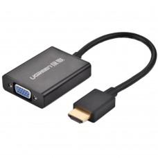UGREEN 1080P Mini HDMI to VGA Converter w/Audio Adaptert for Laptop Computer PC TV Projector